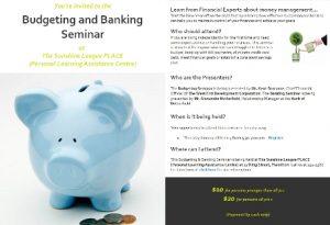 0128 Budget and Banking Seminar