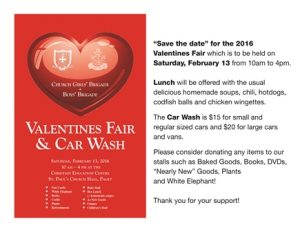 0213 Valentine's Day Church Fair