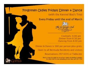 0219 Forgotten Oldies Fridays Dinner Dance