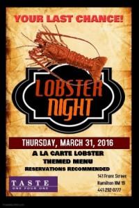 0331 Lobster Night at Taste