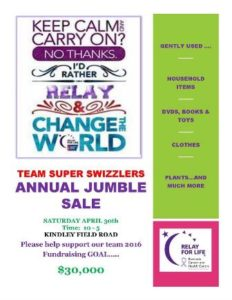 0430 Super Swizzlers Jumble Sale