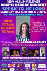 0514 Josian Maybury Gospel Reggae Concert