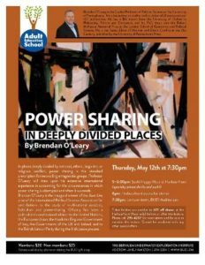 0512 Power Sharing in Deeply Divided Places with Brendan O'Leary