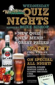 0601 Wednesday Quiz Nights with Mike Bishop at White Horse