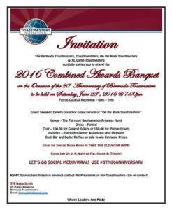 0725 Bermuda Toastmasters 20 Anniversary Banquet