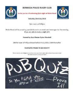0723 Police Rugby Club Fundraising Quiz Night