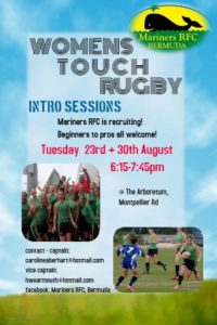 0823 Mariners RFC Touch Rugby Intro Sessions