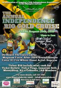 0826 Jamaican Independence and Rio Gold Cruise