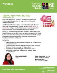 0924 Seeing Red Painting Red with Margaret Best
