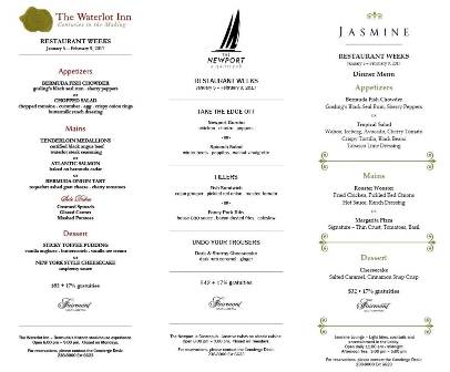 Waterlot Restaurant Week Menu